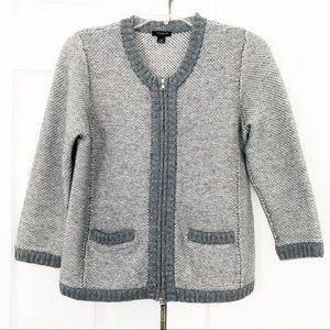 Ann Taylor Gray Merino Wool Blend Cardigan Size XS
